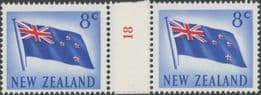 NZ Counter Coil Pair SG854 5c Flag Join No. 18 (NCC/410)